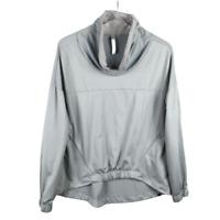 Fabletics Europa Fleece Pullover Sweatshirt Size L Gray Long Sleeve Stretch