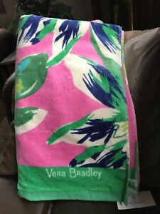VERA BRADLEY Beach Towel TROPICAL PARADISE New with Tags! Rare & Retired