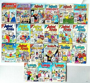 Lot of 21 Archie/ Jughead's Double Digest  Archie w/Jughead and Laugh Comics