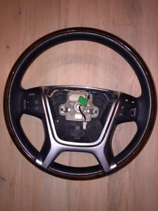 genuine volvo xc60 xc70 s80 steering wheel wood BLACK RARE 08-17