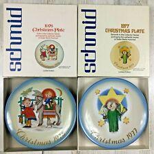 Schmid 1976 Christmas Hummel Sacred Journey Plate & 1977 Herald Angel Limited Ed