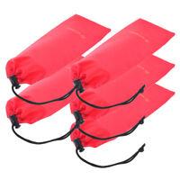 5Pcs Camping Tent Pegs Nails Storage Bag Hammer Pouch Drawstring Stuff Sack