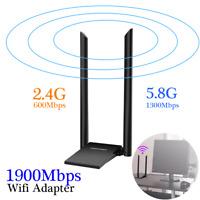 1900Mbps Long Range AC1900 Dual Band 5G Wireless USB 3.0 WiFi Adapter Antenna