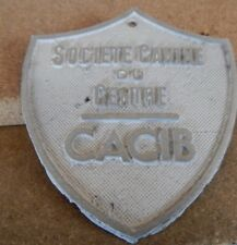 French Society of Canines Du Centre  aluminium plaque