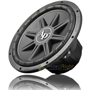 """Audiopipe 12"""" PP Cone Subwoofer 800 Watts Max Dual 4 Ohm Car Audio TS-PX-1250"""