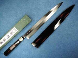 Japanese SAKAI Carbon Steel Yanagiba Knife 300mm Akebono W/Saya
