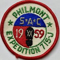 1959 Philmont Expedition 71S-J BSA Vintage Boy Scouts Patch  Unused Round