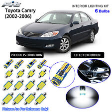 6 Bulbs LED Interior Dome Light Kit Cool White For 2002-2006 Toyota Camry