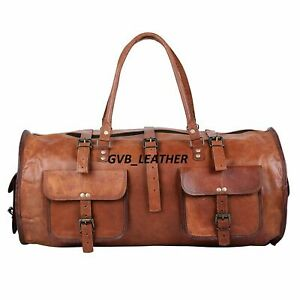 Bag Leather top trending Travel Duffle Weekend Holdall Overnight Duffel Vintage