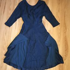 3.1 Phillip Lim Silk Pattern 3/4 Sleeve Beautiful Dress / Teal / Navy US 4 UK 8