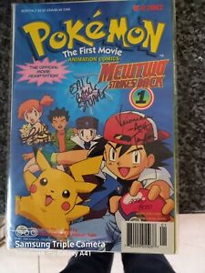 pokemon First Movie Ltd Edition signed comic Sealed New + certificate No. 2996