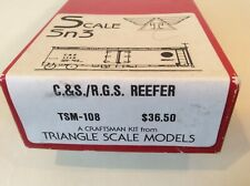"""Sn3 """"C&S / Rgs Reefer"""", Triangel Scale Models Kit #Tsm-108, Excellent Condition"""