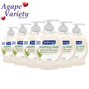 Softsoap Moisturizing Liquid Hand Soap, Soothing 7.5 Fl Oz (Pack of 6), Pearl