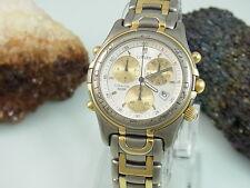 Citizen chronograph | alarma | zafiro vidrio | titanio/dorado qa-4825 reloj Hombre