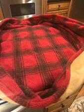 New Orvis  Oval wrap around Fleece Microfiber dog bed COVER ONLY Red Plaid M