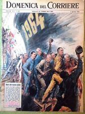 La Domenica del Corriere 5 Gennaio 1964 Muro Berlino Disney Fototerapia Negri