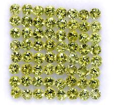 2.85 Cts Natural Peridot Round Cut 3 mm Lot 20 Pcs Lustrous Loose Gemstones