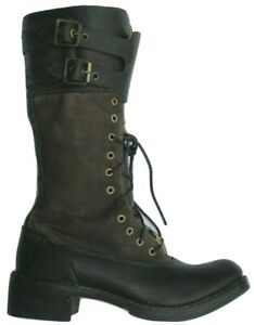 Womens Ladies Timberland Lucille Buckle Zip Distress Leather Boots Size UK 3 7