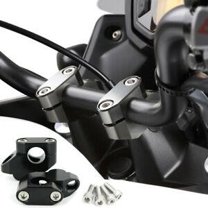 Black Aluminum Motorcycle Handlebar Risers Kit Hand Bar Extension Back Moved Up