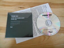 CD indie four tet-Love Cry (2 canción) Promo Domino rec + presskit