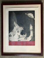 RICARDO DUFFY 'We Are Not Alone' Surrealism Tamal Type UFO Rare Art Print