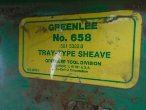GREENLEE  658 TRAY-TYPE SHEAVE