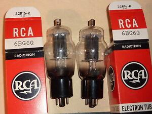 2 x RCA 6BG6G  OO-getter  NOS NIB