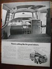 Vintage 1972 Original Magazine Ad Volkswagen VW Nothing Like the Great Indoors