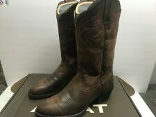 Ariat Women's 8 Round Up R Toe Western Cowboy Boot Dark Toffee