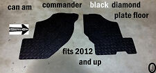 CAN AM Commander Black Rubber Coated Aluminum Diamond Plate FLOOR BOARDS 2012-16