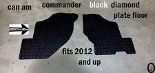 CAN AM COMMANDER CUSTOM CUT BLACK DIAMOND PLATE FLOOR BOARDS 2012-16