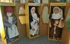 Collectible  Antique / Vintage Rubber Nun Doll- CATHOLIC  DOLL Set Of 3