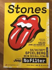 The Rolling Stones Spielberg 16.9.2017 No Filter Tour Poster