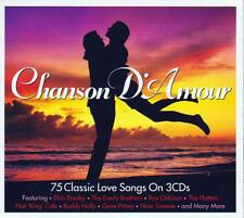 CHANSON D'AMOUR - 75 CLASSIC LOVE SONGS - VARIOUS ARTISTS (NEW SEALED 3CD)