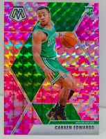 Carsen Edwards RC 2019-20 CAMO PINK MOSAIC PRIZM Rookie Card #220 Boston Celtics