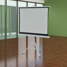 "120"" Projection Screen 4:3 Ratio Portable Home Theater w/ Tripod Stand"