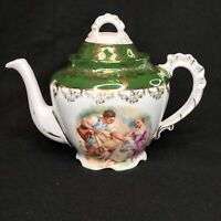 Vintage Teapot Victoria Carlsbad Austria Beautiful Romantic Picnic Boy Girl Dog