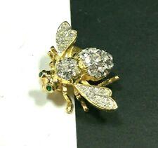 Joan Rivers Bumble Bee Bug Brooch Pave Crystal Rhinestone Gold Pl Figural R54K