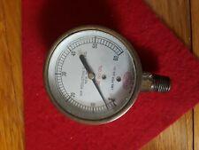 New listing Vintage Brass Air Reduction Gauge.