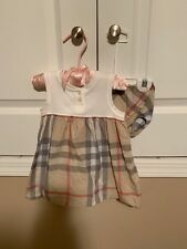 Burberry Baby Girls Plaid Dress In Size 18 Months With matching Diaper Cover