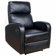 Sillon reclinable con palanca para salon. MIRA EL VIDEO.Tapizado polipiel negro