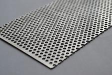 "3003 Aluminum Perforated Metal Sheet 24"" x 4"" Great for Car Grills, Mesh & Vents"