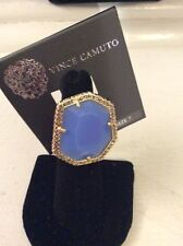 $48 Vince Camuto Blue Ring With Pave Crystals Size 7 189
