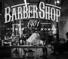 Old Photo.  Thessaloniki, Greece.  Barber Shop