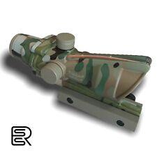 ACOG 4x32 Fiber Optical Scope, Working Red Fiber Optic Camouflage Tactical