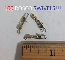 100 Rosco Sz.12 Brass Swivels w/Snap (821-12) Y-Wall