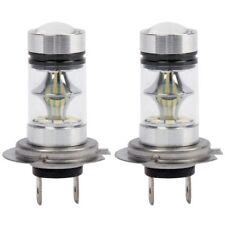 2X(1 par de Bombilla LED H7 de Alto Voltaje Luz de niebla del coche 100W 20L L8)