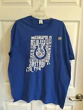 Gilden Brand Blue And White Woman's Size X Large - Nwt - Ind Colts