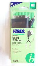 Bandridge Video VL7552 Scart 2 Phono Male-Male Cable - 1.5m - Brand New