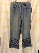 """Vintage """"Spiegel Life"""" Boho Beaded Fedstival 70's Bell Bottom Flare Jean Size 12"""